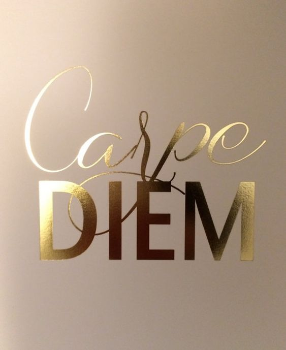 Carpe Diem Gold Foil Print by JordanKatelin on Etsy: