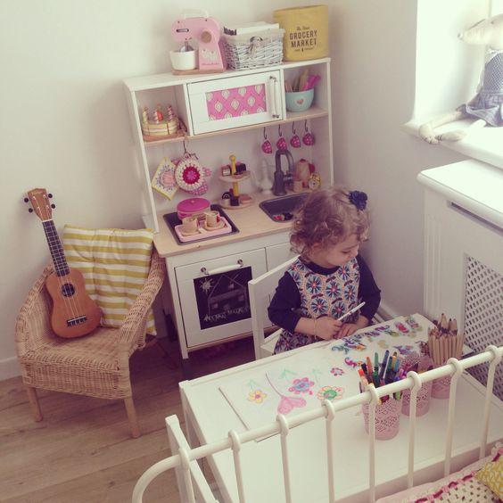 Bubblegarm esra 39 s toddler room with ikea play kitchen hack ikeahack duktig t o d d l e r - Ikea duktig play food ...