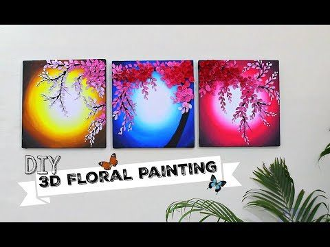 3d Floral Painting For Wall Decor Shilpkar Art I Hope You Are All Doing Well I Prepared This Easy Abstract Wall Art Diy Floral Painting Flower Canvas Wall Art