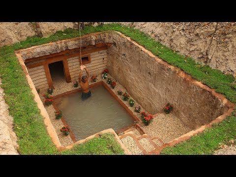 Dig To Build Most Awesome Underground House And Underground Swimming Pool Dekoration Hausdekoration Hausdekor Einrichte Hinterhof Garten Natur Haus Erdhaus