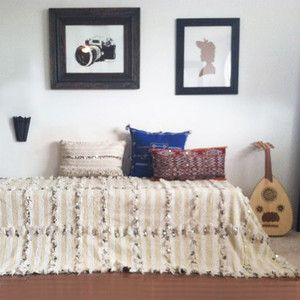 Love this.  Berber Blanket 112x78, $524, now featured on Fab.