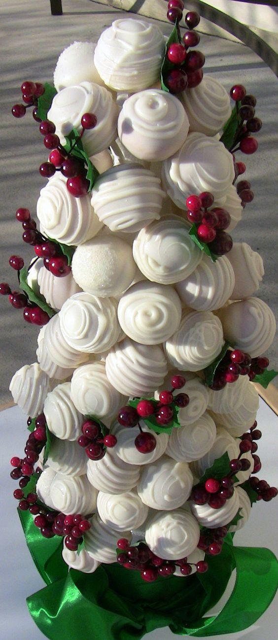 Christmas cake pop tree...love this!