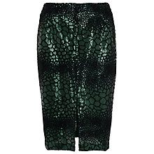 Buy French Connection Croc Flock Textured Skirt, Green Online at johnlewis.com
