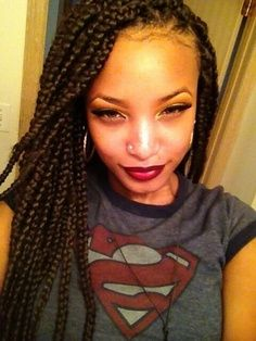 Prime Big Box Braids Hairstyles Big Box Braids And Box Braids On Pinterest Hairstyle Inspiration Daily Dogsangcom