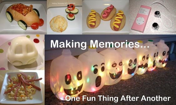 Making Memories With Your Kids ... One Fun Thing After Another. Cute blog.: Fun Food, Milk Jug, Fun Ideas, Craft Ideas