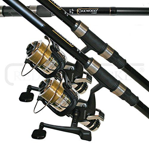 Lineaeffe Carp Rod 12ft And Carp Reel Line Combo X 2 Brand New 2 Piece Oakwood 12ft Carp Rod X 2 2 75lb Te Carp Rods Rod And Reel Best Home Gym Equipment
