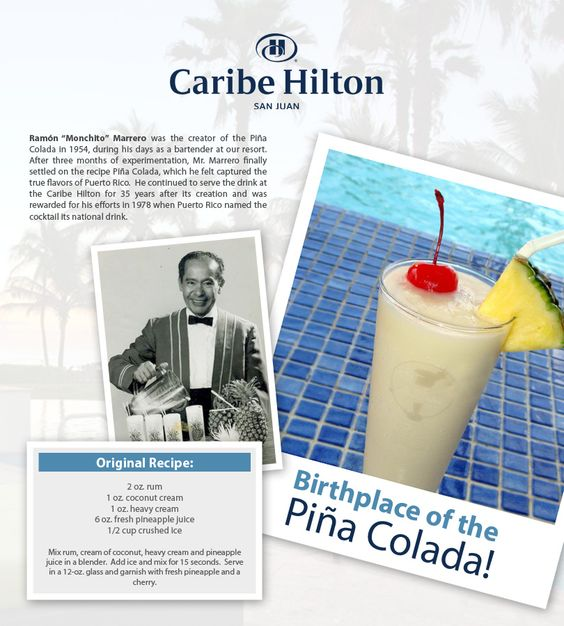 The 25+ best Caribe hilton pina colada image ideas on Pinterest ...