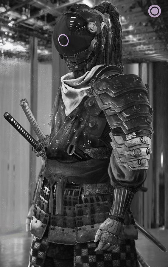 cyberpunk samurai futurist pinterest cyberpunk