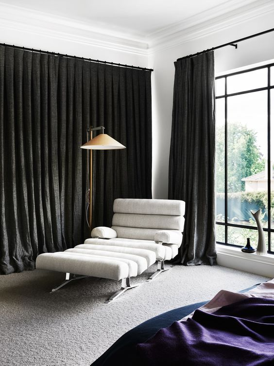 "When this [Melbourne home](http://www.homestolove.com.au/gaudy-80s-home-gets-modern-renovation-3877|target=""_blank"") was remodeled some of the furniture was given a new life, too. This rare vintage chaise and ottoman were re-covered in textured wool. *Photo: Brooke Holm*"