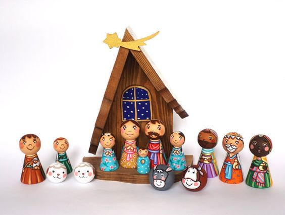 Hey, I found this really awesome Etsy listing at https://www.etsy.com/uk/listing/202472632/cyber-monday-sale-childrens-nativity-set