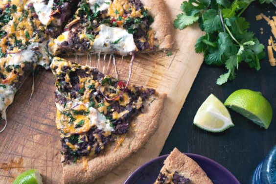 black-bean-pizza | Yumlicious | Pinterest | Mexican Black Beans, Black ...