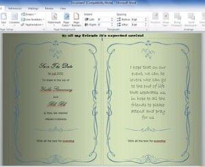 Cara Membuat Undangan Di Microsoft Word Undangan Pernikahan Undangan Photoshop