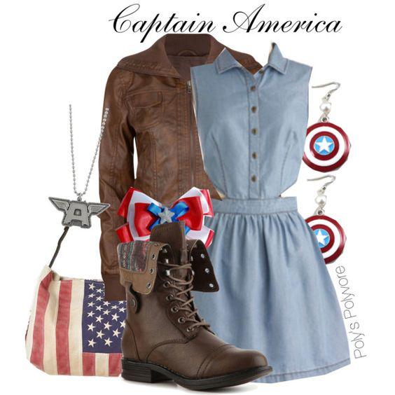 """Captain America"" by polyspolyvore on Polyvore"