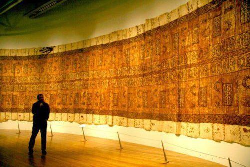A 100 meter Tongan Ngatu on display at Pataka's Museum of Arts and Cultures