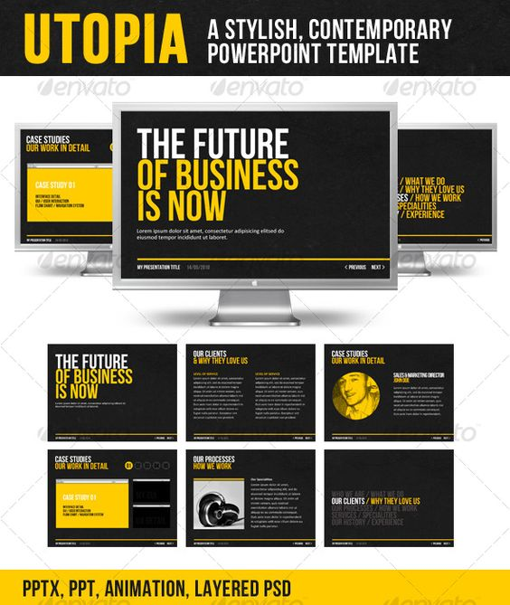 Multimedia presentation templates and inspiration on pinterest powerpoint presentation template 5 toneelgroepblik Images