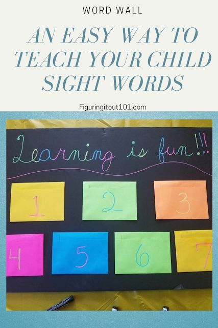 Easy Ways To Teach My Child To Read How To Teach My Child To Read Index Cards Learning Crafts Learning Ideas Sig Kids Learning How To Teach Kids Word Wall