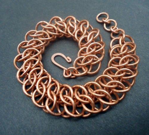 Handmade Copper GSG Chainmaille Bracelet - Mens or Womens Lengths