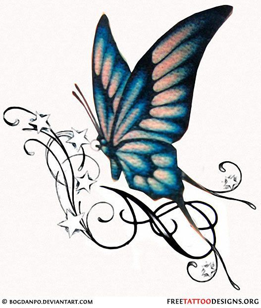 Pin On Butterfly Tattoo Designs