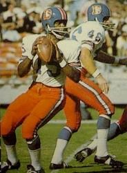Marlin Briscoe - 1968 - Denver Broncos - First African American Quarterback in NFL, though it was in fact, the AFL. It was the AFL of the 1960s who gave many African-Americans a chance when the NFL would not.
