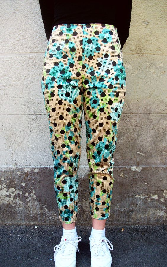Capri pants cigarette with polka dots and by EssereAtelier on Etsy, $129.00