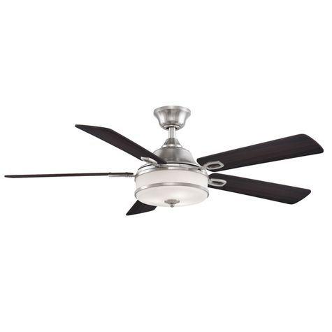 The Soloman Ceiling Fan In 2020 Ceiling Fan Brushed Nickel