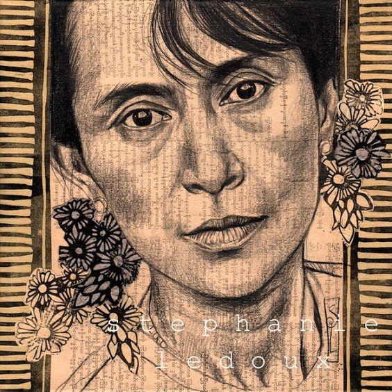 Stéphanie Ledoux - Carnets de voyage: La dame de Rangoon