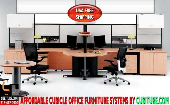 Free Office Furniture Layout Design CAD Drawings By Cubiturecom