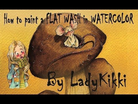 How To Paint A Flat Wash Two Curious Mouse By Ladykikki Youtube Happy Easter Everyone Make It Yourself Curious