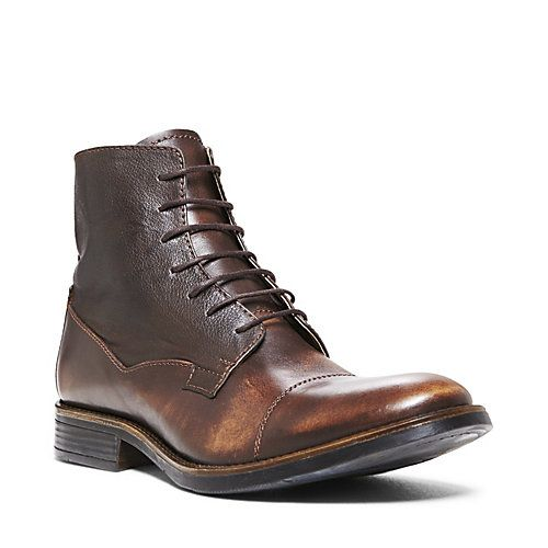 MAARCO BROWN LEATHER men's boot dress zipper - Steve Madden | Les ...