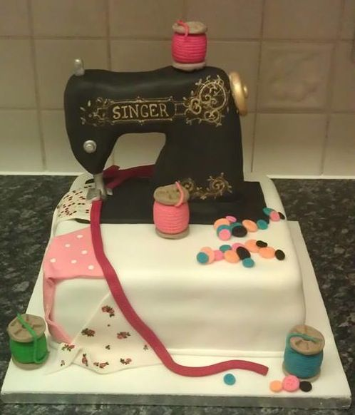 Cake Design For Singer : Singer sewing machine cake- 100% homemade xx Hobby Cakes ...