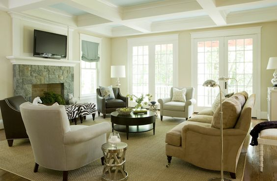 Liz Levin Interiors Chic Elegant Living Room Design With