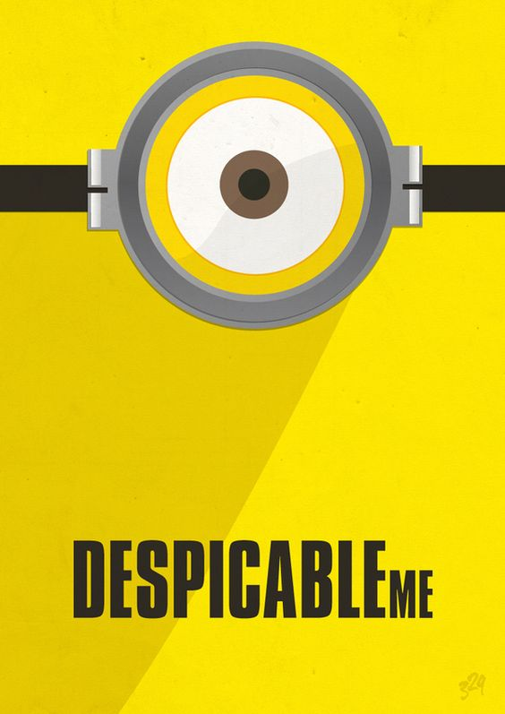 Despicable Me Brilliant Minimalistic Movie Posters