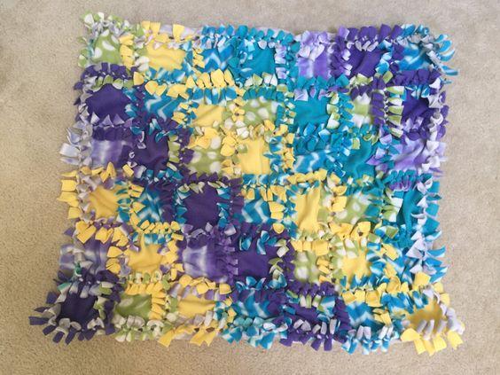 Tummy Time Baby Blanket, Baby Blanket, Baby Quilt, Baby Tie Blanket, Fleece Blanket, Fleece Baby Blanket by KozyKiddies on Etsy