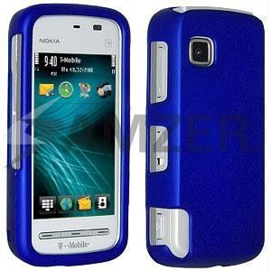 Amzer Rubberized Blue Snap On Crystal Hard Case