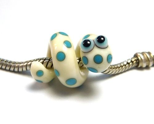 Lampwork Schlange Pastell-Beads