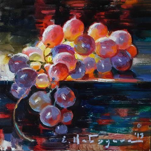 Elena Katsyura Gallery of Original Fine Art | Grape painting, Original fine art, Watercolor paintings for beginners