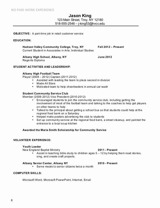 Do i need a resume for part time jobs resume work history order