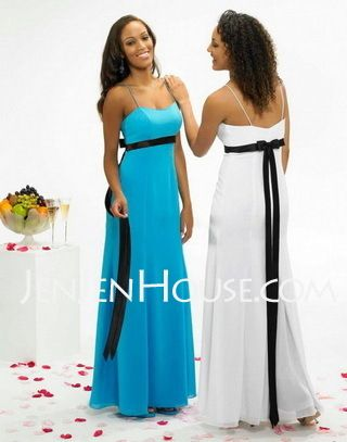 Bridesmaid Dresses - $105.99 - Empire Sweetheart Floor-Length Chiffon Bridesmaid Dresses With Sash (007001467) http://jenjenhouse.com/Empire-Sweetheart-Floor-length-Chiffon-Bridesmaid-Dresses-With-Sash-007001467-g1467