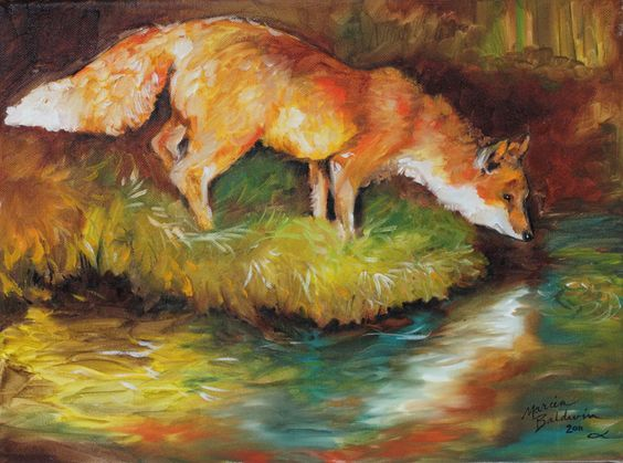 """Red Fox"" par Marcia Baldwin"