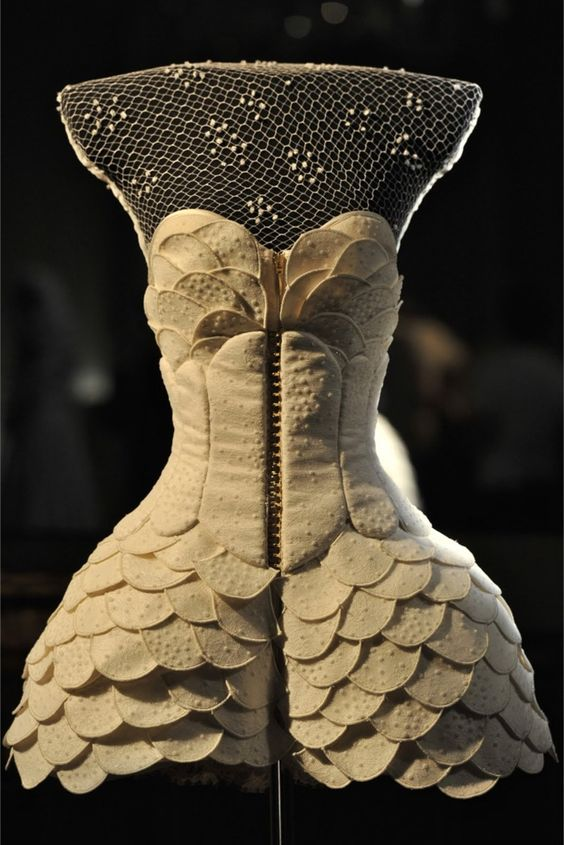 """It's a modern and contemporary collection with the right references to the house's past,"" said designer Giovanni Bedin of this corset, part of House of Worth's Autumn 2011 collection (part of Irina Kruzhilina's inspiration for Columbine). A similar balance of past and present is conveyed in A Dancer's Dream."