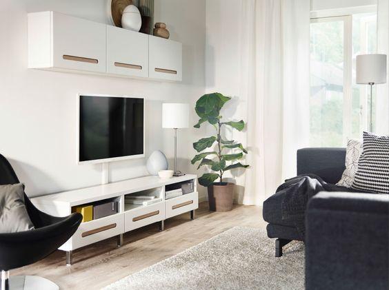 Ikea Wohnzimmer Weiß: Ikea besta wohnzimmer schrank hochglanz weiß ...