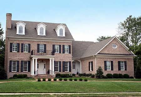 Plan 32475wp colonial with open floor plam colonial for Colonial house addition