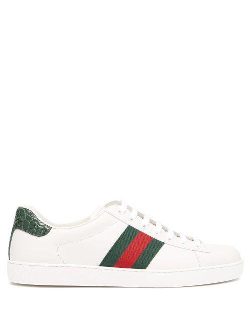 leather trainers. #gucci #shoes