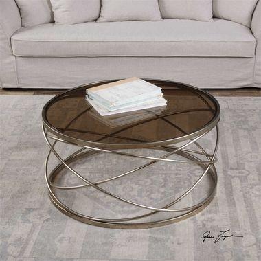Uttermost Marella Silver Iron Coffee Table