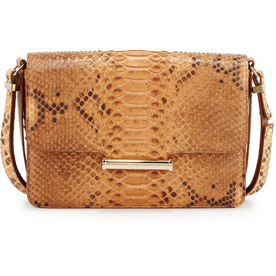 Jason Wu Diane Long Python Crossbody Bag (7,095 CAD) ❤ liked on Polyvore featuring bags, handbags, shoulder bags, natural, beige handbags, shoulder strap handbags, shoulder strap purses, beige shoulder bag and flap crossbody