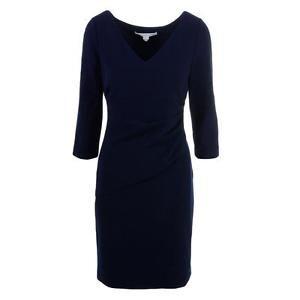 Diane Von Furstenberg 1402 Womens Bevin Pleated V-Neck Wear to...