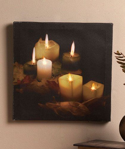 Flickering Twinkling LED Canvas Candlelight Wall Art by oneofkindgiftsmall, http://www.amazon.com/dp/B008OF3Y0G/ref=cm_sw_r_pi_dp_YSFsrb0J095X4