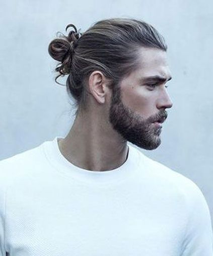 Man Bun Hairstyles For Spring 2018 Man Bun Hairstyles Haircut Names For Men Beard Styles For Men