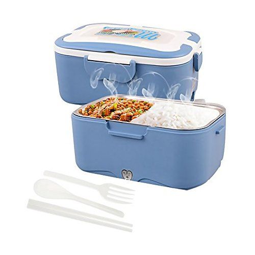 1.5L Portable Electric Heated Lunch Box Set Lunch Container Kitchen Storage Box