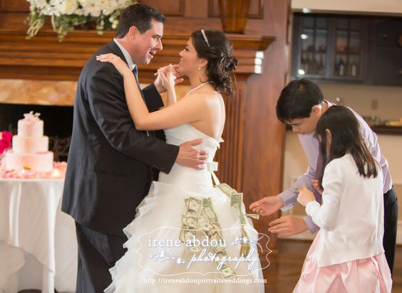Filipino Wedding Traditions Prosperity Dance In Which Guests Pin Money To The Bride Groom Exchange For A By Irene Abdou Photography
